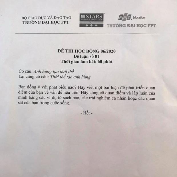 Đề thi học bổng ĐH FPT đọc vào ai cũng tấm tắc khen nhưng mắc phải 2 lỗi sai cơ bản này - Ảnh 1.