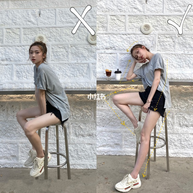 Có kinh nghiệm chụp ảnh lão luyện, cô nàng này thị phạm luôn 8 cách tạo dáng giúp chân dài tít tắp - Ảnh 1.