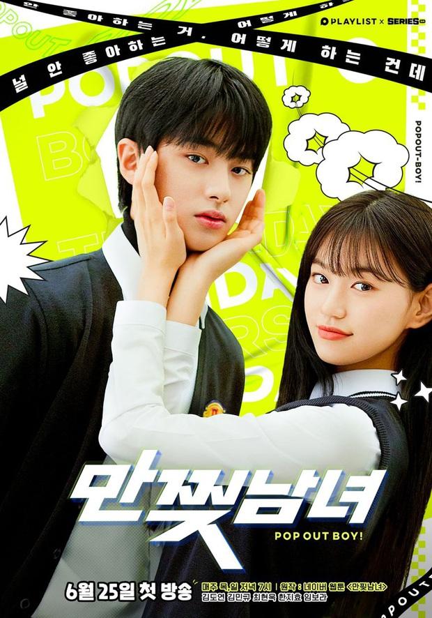 Cặp đôi Produce 101 hôn nhau tung màn gây sốt ở web drama học đường Pop Out Boy - Ảnh 1.