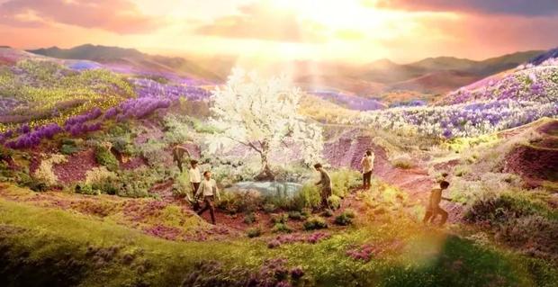 Choáng ngợp với hậu trường MV mới đẹp mê hồn của BTS, thung lũng hoa ảo tung chảo hoá ra được thực hiện từ... bìa cacton? - Ảnh 10.