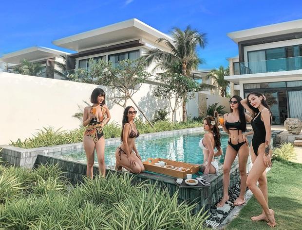 Hội gái đẹp chơi thân rủ nhau diện bikini khoe eo thon chân dài thẳng tắp: Biết nhìn vào ai đây? - Ảnh 4.