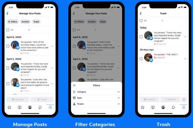 Facebook ra mắt tính năng mới, giúp xóa bỏ quá khứ đau thương và các bài đăng ngớ ngẩn thời trẻ trâu dễ dàng hơn - Ảnh 1.