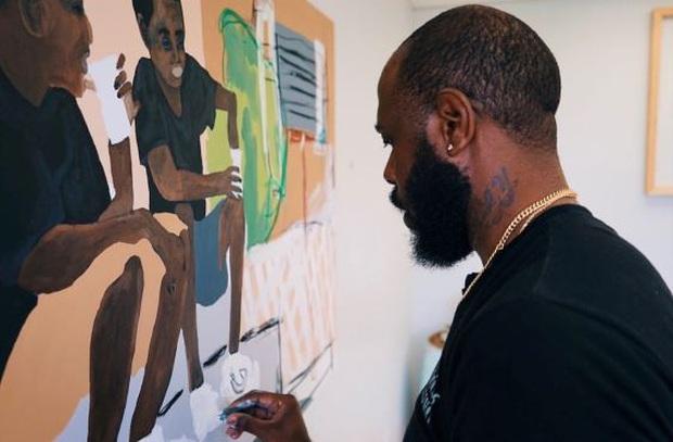 Nghệ sĩ trẻ đưa lời nói cuối cùng của George Floyd lên bầu trời nước Mỹ  - Ảnh 4.