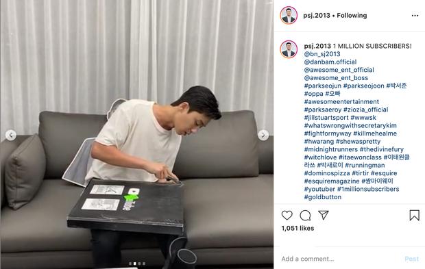 Hậu sức nóng huỷ diệt của Tầng Lớp Itaewon, Park Seo Joon là diễn viên Hàn đầu tiên ẵm nút vàng Youtube - Ảnh 2.