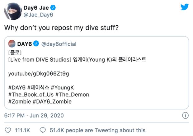 Thành viên DAY6 nhà JYP bất ngờ tố công ty đối xử bất công so với các thành viên khác trong nhóm, fan tưởng giận hờn vu vơ ai ngờ căng thật! - Ảnh 1.