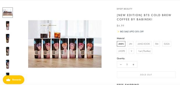 """Giờ mới biết có hẳn bình cafe """"cộp mác"""" các thành viên BTS được bán trên toàn cầu, hàng xách tay tại Việt Nam có giá siêu rẻ - Ảnh 8."""