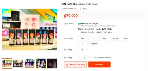 """Giờ mới biết có hẳn bình cafe """"cộp mác"""" các thành viên BTS được bán trên toàn cầu, hàng xách tay tại Việt Nam có giá siêu rẻ - Ảnh 9."""