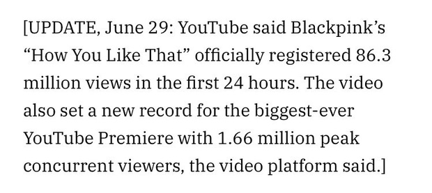 YouTube xác nhận lượt xem 86,3 triệu trong 24h đầu của How You Like That: BLACKPINK giữ kỷ lục thế giới, không bị trừ view mà còn được cộng thêm! - Ảnh 2.
