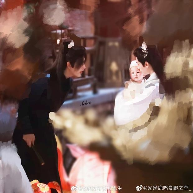 La Vân Hi và Trần Phi Vũ siêu tình tứ tại loạt ảnh ba ngọn nến lung linh ở hậu trường phim đam mỹ  - Ảnh 1.