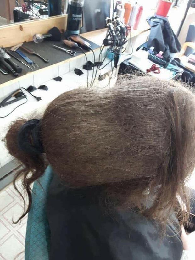 Mang mái tóc bết nhiều năm không cắt đến tiệm đòi phục hồi, cô gái gây choáng với tổ quạ trên đầu, hình ảnh sau tân trang khiến ai cũng ngỡ ngàng - Ảnh 1.