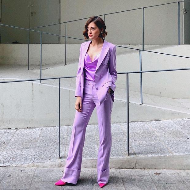 Sao Việt khi diện suit tím hot trend: Người đẹp tinh tế, người sến sẩm; nàng công sở xem cũng rút được khối kinh nghiệm - Ảnh 7.