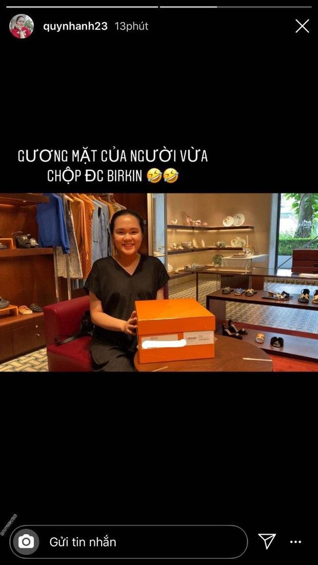 Quỳnh Anh - ái nữ cựu chủ tịch CLB Sài Gòn sắm túi Hermes hơn 500 triệu để... lấy hộp đựng bỉm cho con sắp sinh - Ảnh 2.