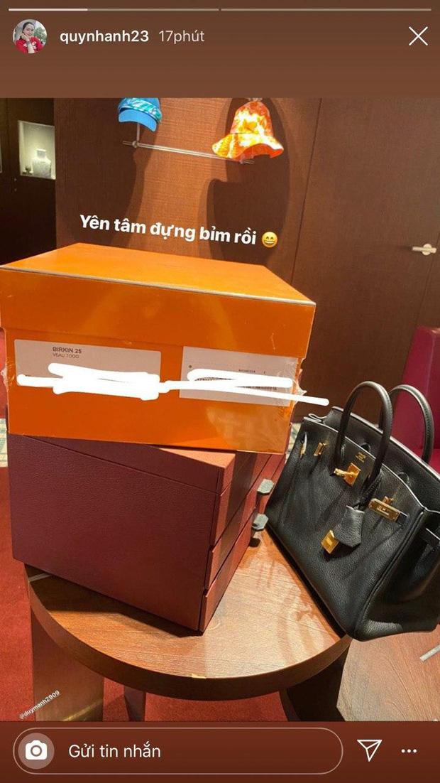 Quỳnh Anh - ái nữ cựu chủ tịch CLB Sài Gòn sắm túi Hermes hơn 500 triệu để... lấy hộp đựng bỉm cho con sắp sinh - Ảnh 4.