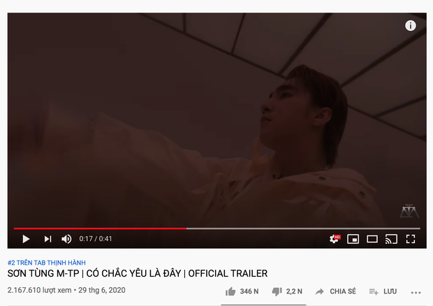 Sơn Tùng M-TP phi thẳng #2 trending đe doạ BLACKPINK và loạt thành tích đạt được sau 11 tiếng ra trailer MV mới - Ảnh 13.