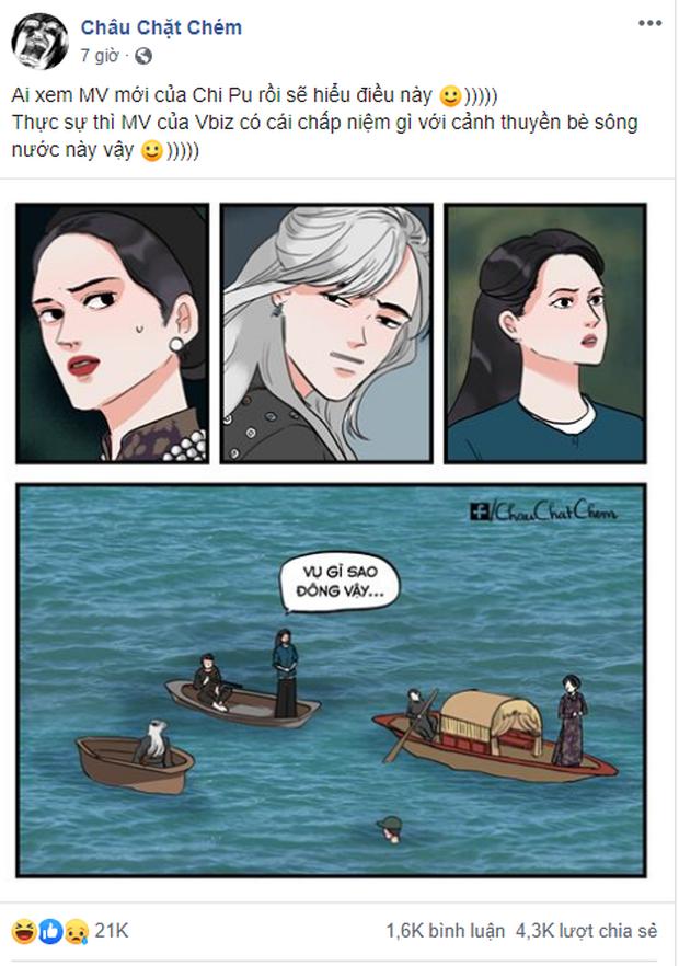 Bức ảnh đang viral nhất MXH hôm nay: Ai không chịu khó xem MV liệu có nhận ra Sơn Tùng M-TP, Chi Pu và Hoà Minzy đang chèo thuyền cứu Đen Vâu? - Ảnh 10.