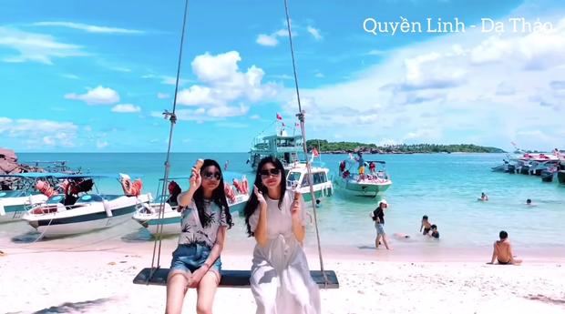 Hai con gái Quyền Linh rạng rỡ ở biển Phú Quốc, Lọ Lem vẫn là điểm nhấn với thần thái sang chảnh hết nấc - Ảnh 6.