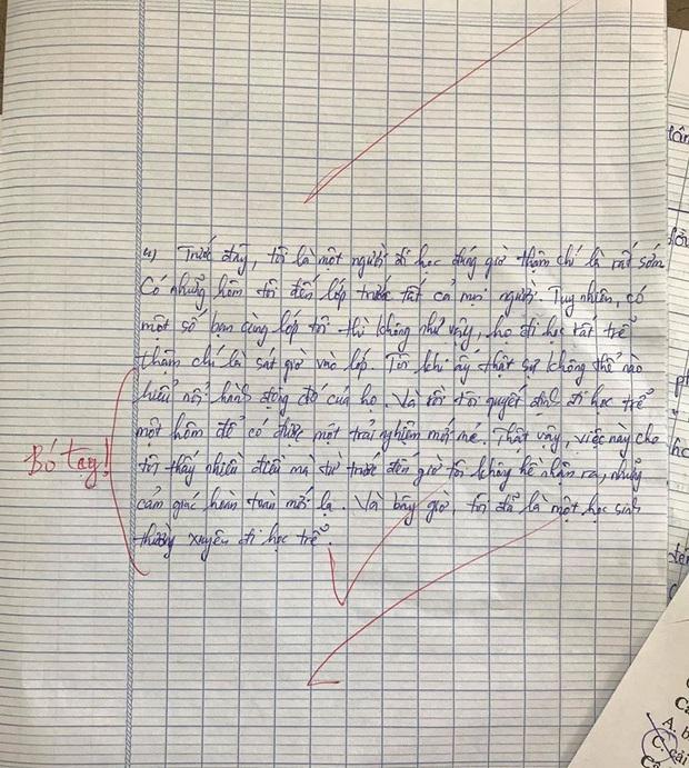 Viết về điều đơn giản từng làm để thoát khỏi vùng an toàn, cô giáo phải thốt lên Bó tay với nam sinh này - Ảnh 1.