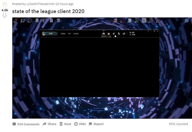 Game thủ ngán ngẩm vì client LMHT hóa màn hình đen - Riot làm mọi thứ đều hỏng, trừ Cửa Hàng - Ảnh 1.