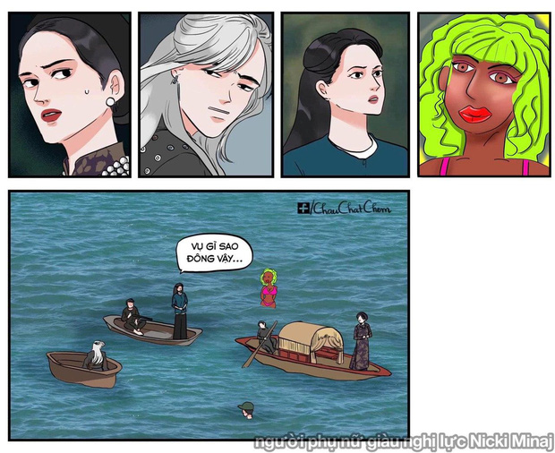 Bức ảnh đang viral nhất MXH hôm nay: Ai không chịu khó xem MV liệu có nhận ra Sơn Tùng M-TP, Chi Pu và Hoà Minzy đang chèo thuyền cứu Đen Vâu? - Ảnh 11.