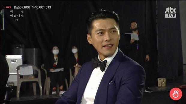 Cameraman tại Baeksang tự soi luôn tá hint của Hyun Bin - Son Ye Jin: Liếc qua liếc lại, sao đáng nghi quá? - Ảnh 3.
