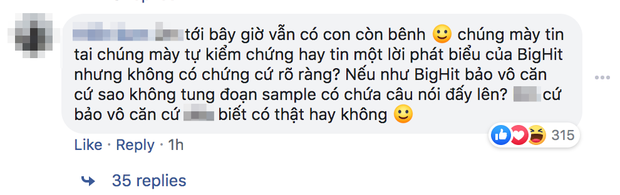 Netizen Việt phản ứng gay gắt sau lời phủ nhận của Big Hit về câu nói tiếng Việt không rõ nguồn gốc trong ca khúc của SUGA (BTS) - Ảnh 7.