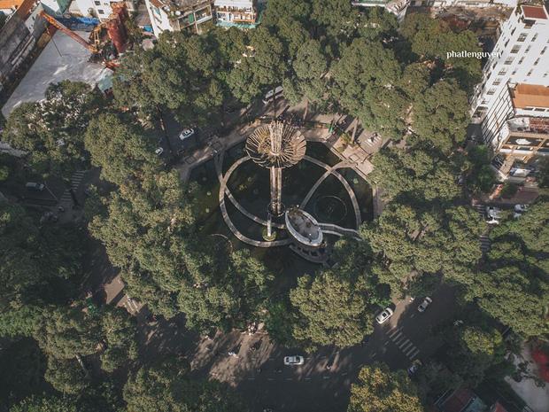 """Không tin vào mắt mình trước bộ ảnh chụp Sài Gòn từ trên cao đang """"gây bão"""" MXH: Xem hình, bạn đoán được đúng tên bao nhiêu địa điểm? - Ảnh 4."""