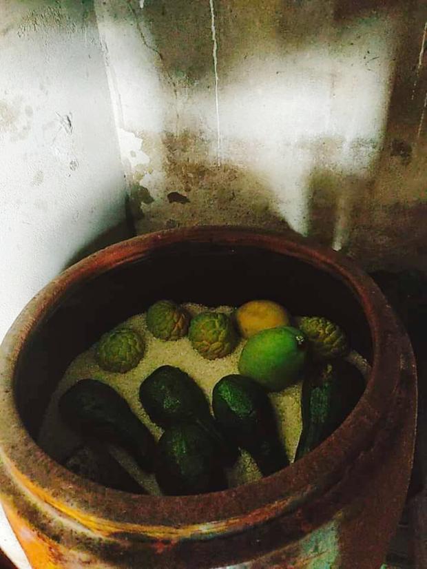 """Một mẹo """"phù phép"""" trái cây bằng thùng gạo từ xưa đến nay vẫn được áp dụng: nhiều người sẽ thấy bồi hồi khi nhìn vào bức ảnh này - Ảnh 1."""