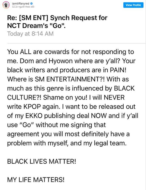 SM bị chỉ trích sau khi producer da màu từng sản xuất 2 ca khúc của NCT tố trả lương bèo bọt và đối xử thiếu tôn trọng với mình - Ảnh 7.