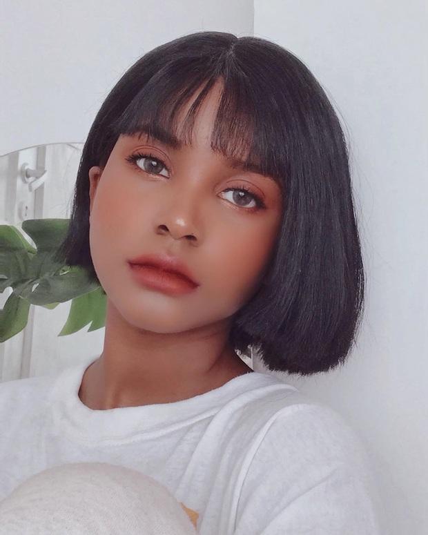 Thử makeup giống ulzzang, cô nàng da màu khiến dân tình gật gù: Style Hàn Quốc đúng là đỉnh như lời đồn! - Ảnh 3.