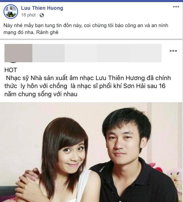 Dính tin đồn đã ly hôn, Lưu Thiên Hương làm rõ thực hư và dằn mặt luôn kẻ tung tin chỉ bằng 1 câu nói - Ảnh 2.
