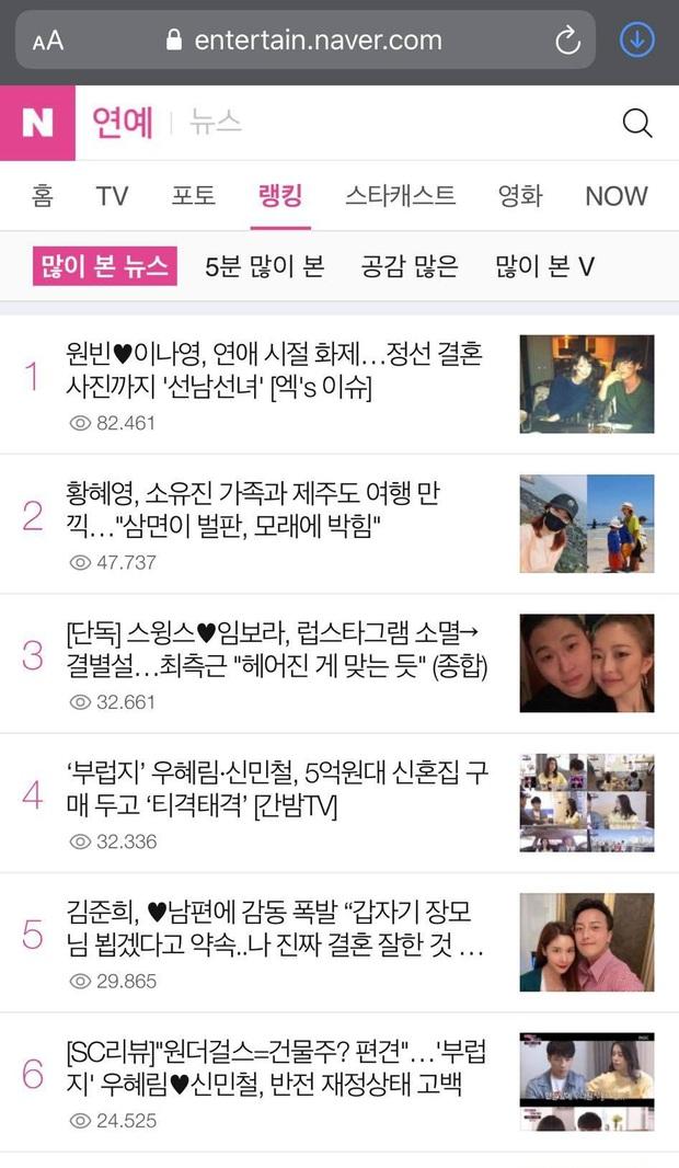 Top 1 Naver Hàn Quốc sáng nay: Lần đầu ảnh hẹn hò của Won Bin và vợ minh tinh được hé lộ - Ảnh 2.
