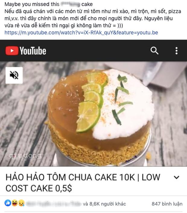 """Khi bạn hết tiền nhưng vẫn muốn có bánh sinh nhật: Chỉ cần bỏ ra 10k như YouTuber này là có ngay món """"Hảo Hảo Tôm Chua Cake"""" - Ảnh 2."""