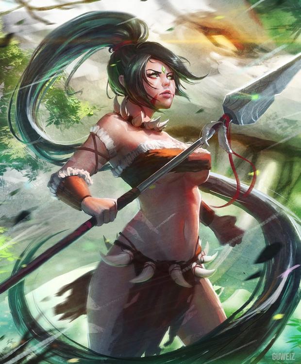 Rạo rực với cosplay Nidalee tâm hồn căng mọng, trắng hồng từng milimet của nữ coser Hàn Quốc - Ảnh 2.