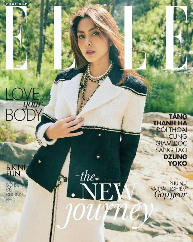 Ôm trọn bộ Chanel lên tạp chí, Hà Tăng lấp ló vòng 1 áp đảo tân nương yêu tinh đơn điệu từ trang phục đến thần thái - Ảnh 1.