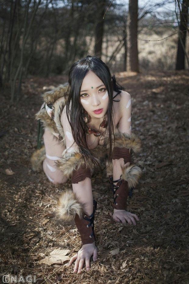 Rạo rực với cosplay Nidalee tâm hồn căng mọng, trắng hồng từng milimet của nữ coser Hàn Quốc - Ảnh 13.