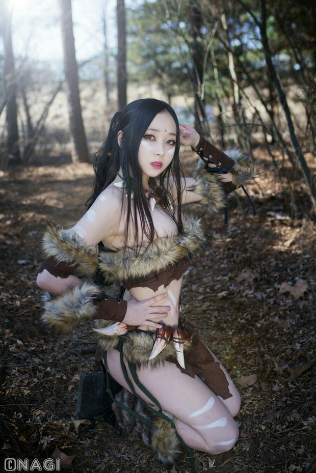 Rạo rực với cosplay Nidalee tâm hồn căng mọng, trắng hồng từng milimet của nữ coser Hàn Quốc - Ảnh 14.