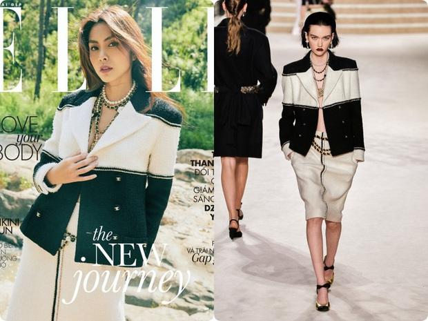 Ôm trọn bộ Chanel lên tạp chí, Hà Tăng lấp ló vòng 1 áp đảo tân nương yêu tinh đơn điệu từ trang phục đến thần thái - Ảnh 3.