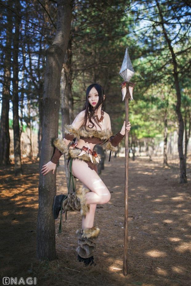 Rạo rực với cosplay Nidalee tâm hồn căng mọng, trắng hồng từng milimet của nữ coser Hàn Quốc - Ảnh 7.