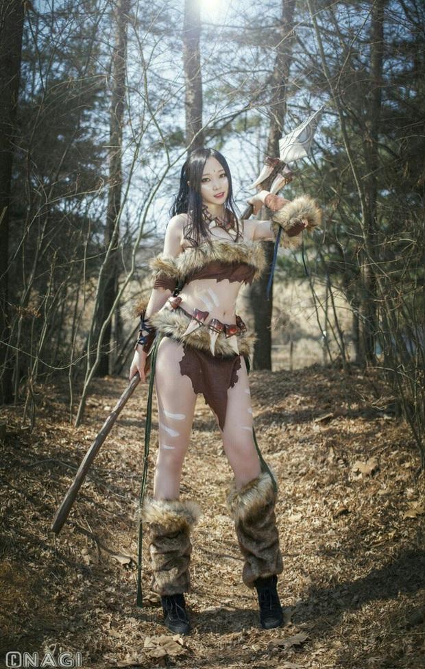 Rạo rực với cosplay Nidalee tâm hồn căng mọng, trắng hồng từng milimet của nữ coser Hàn Quốc - Ảnh 9.