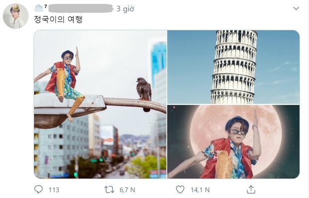 Fan đưa Jungkook đi du lịch khắp thế giới với tạo dáng khó đỡ, cả Việt Nam cũng ghé qua! - Ảnh 9.