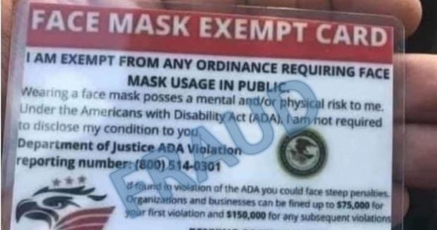 Thẻ miễn đeo khẩu trang và Tổ chức Quyền Tự do Thở làm nhiều người dân Mỹ hoang mang - Ảnh 1.
