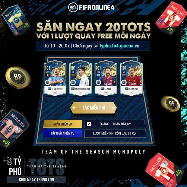 FIFA Online 4: Thẻ 20TOTS chính thức ra mắt cùng sự kiện Cờ tỷ phú - Ảnh 3.