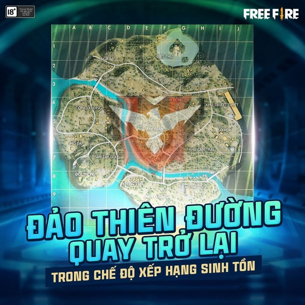 Game thủ Free Fire mừng rơi nước mắt khi map Đảo Thiên Đường quay lại chế độ đấu rank - Ảnh 1.