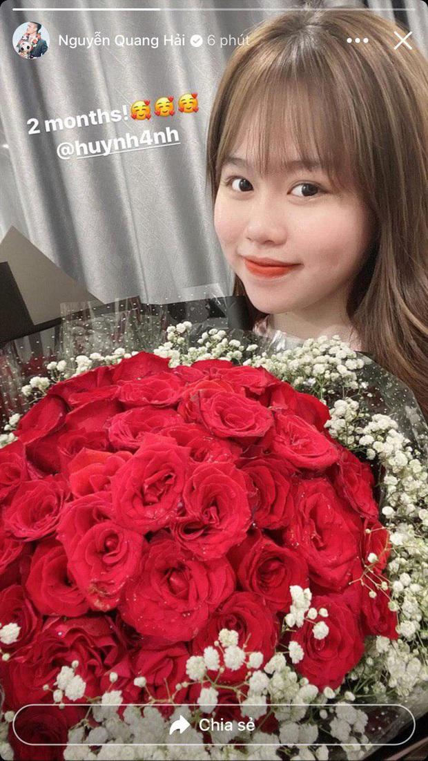 Sau loạt lùm xùm liên tiếp, Quang Hải lần đầu có động thái thể hiện tình cảm với Huỳnh Anh nhân kỷ niệm 2 tháng yêu - Ảnh 2.