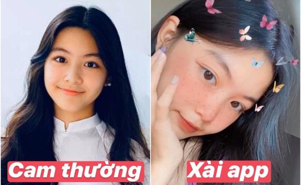 So ảnh Lọ Lem - con gái lớn nhà MC Quyền Linh trên mọi mặt trận: Xài app cho vui chứ không phải để đẹp nha! - Ảnh 1.
