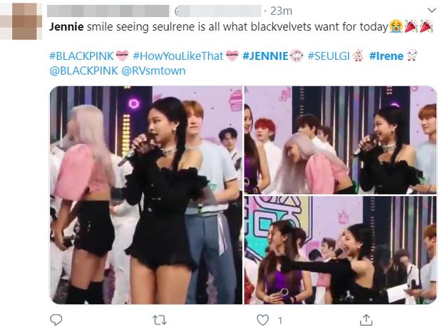 """Jennie bỏ dở hát encore để chạy ra ôm Irene khoe tình chị em thắm thiết, """"thuyền"""" BLACKVELVET lại 1 lần nữa """"ra khơi""""! - Ảnh 7."""