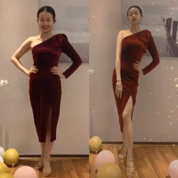 Đến Ngọc Trinh mà không áp dụng thủ thuật tạo dáng thì điểm sexy cũng vơi đi phân nửa khi diện váy xẻ  - Ảnh 1.