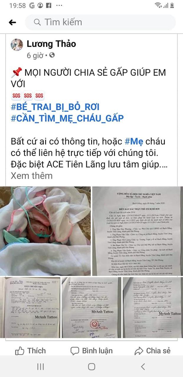 Hải Phòng: Phát hiện bé sơ sinh bị bỏ rơi ở cổng chùa Thiên Tộ  - Ảnh 1.