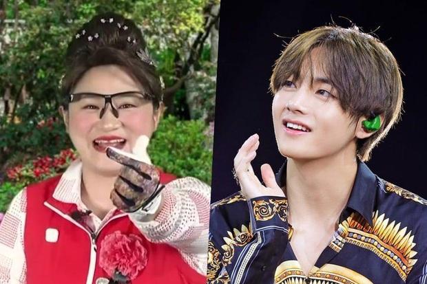 V (BTS) được nữ nghệ sĩ hài gọi là cháu trai và cảm ơn vì đã giúp quảng bá bài hát mới - Ảnh 1.