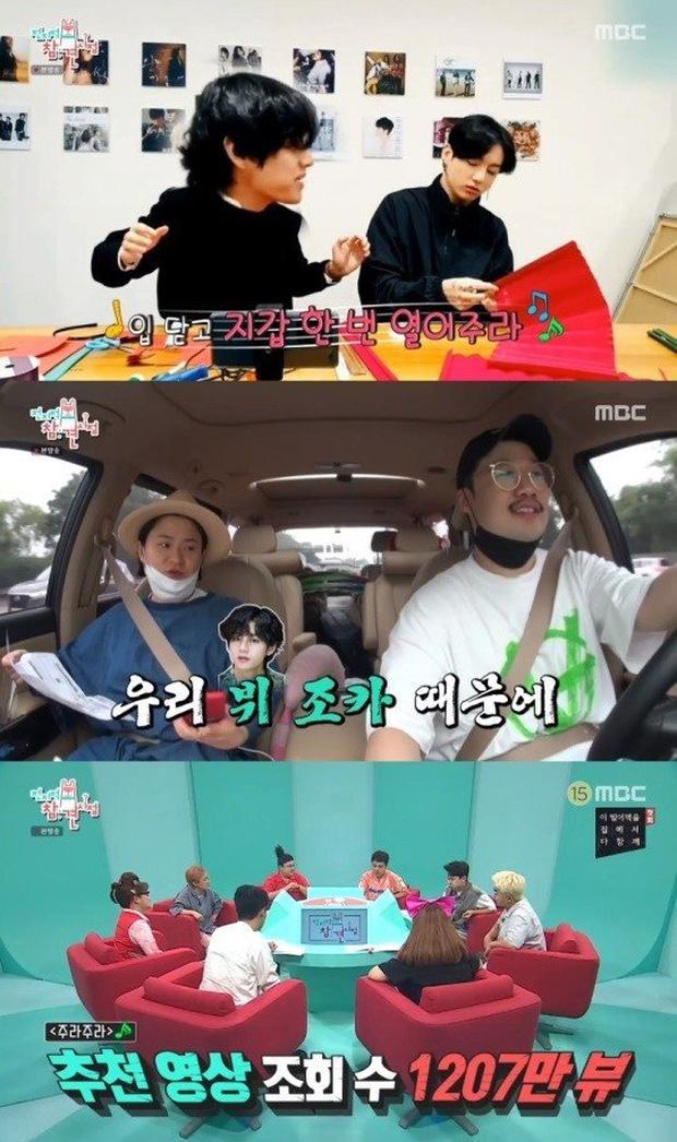 V (BTS) được nữ nghệ sĩ hài gọi là cháu trai và cảm ơn vì đã giúp quảng bá bài hát mới - Ảnh 2.